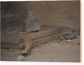 Wood Print featuring the photograph Color Of Steel 1 by Fran Riley