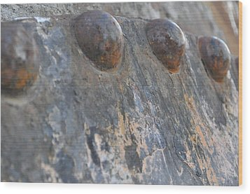 Wood Print featuring the photograph Color Of Steel 7 by Fran Riley