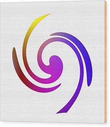 Color Spiral Wood Print by Steve K