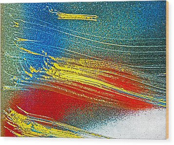 Color Wash Wood Print by Joan McArthur