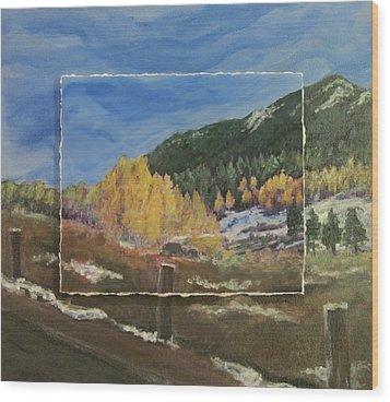 Colorado Almost Winter Wood Print by Anita Burgermeister