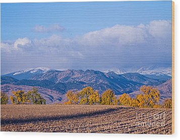 Colorado Autumn Morning Scenic View Wood Print by James BO  Insogna
