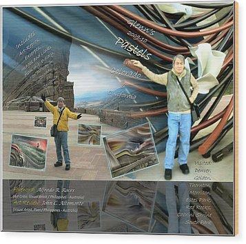 Colorado-california Art Book Cover Wood Print by Glenn Bautista