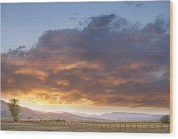 Colorado Evening Light Wood Print by James BO  Insogna