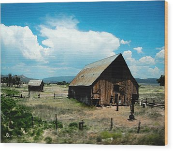 Colorado Farm Wood Print by Melanie Whitaker