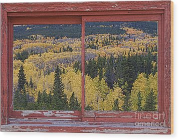 Colorado Red Rustic Picture Window Frame Photo Art Wood Print by James BO  Insogna