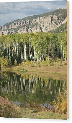 Colorado Reflections Wood Print by Drusilla Montemayor