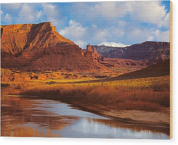 Colorado River At Fisher Towers Wood Print by Utah Images
