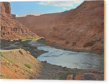 Colorado River Canyon 1 Wood Print by Marty Koch
