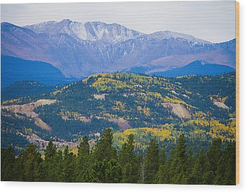 Colorado Rocky Mountain Autumn View Wood Print by James BO  Insogna