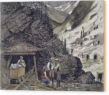 Colorado Silver Mines, 1874 Wood Print by Granger