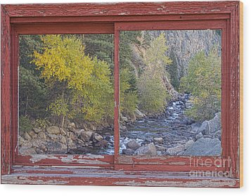 Colorado St Vrain Canyon Red Rustic Picture Window Frame Photos  Wood Print by James BO  Insogna
