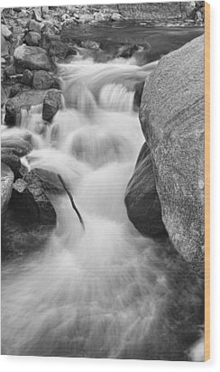 Colorado St Vrain River Trance Bw Wood Print by James BO  Insogna