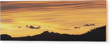 Colorado Sunrise Landscape Wood Print by Beth Riser