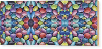 Colored Beans Design Wood Print by Nancy Mueller