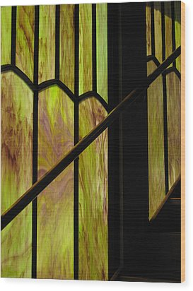 Colored Glass Wood Print