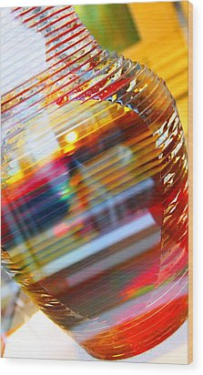 Colored Vase At The Mayo Clinic Wood Print by Laura  Grisham