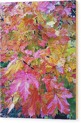 Colorful Autumn Wood Print by Sergey and Svetlana Nassyrov