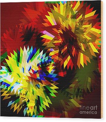 Colorful Blade Wood Print by Atiketta Sangasaeng