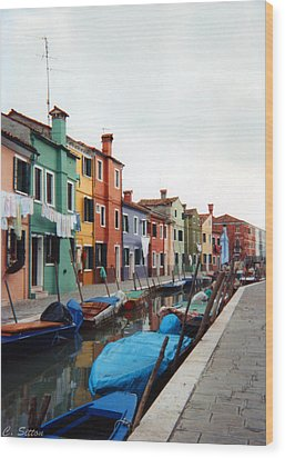 Colorful Burano Wood Print