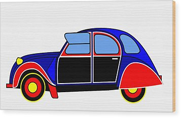 Colorful Darling - Virtual Car Wood Print by Asbjorn Lonvig