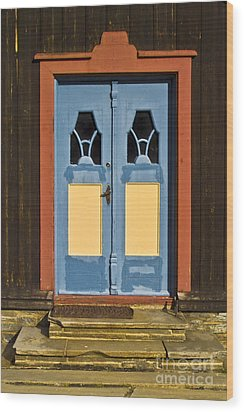 Colorful Entrance Wood Print by Heiko Koehrer-Wagner