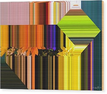 Wood Print featuring the digital art Colorful Kaleidoscope by Michelle Frizzell-Thompson