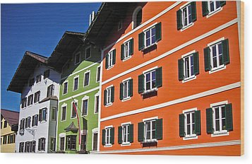 Colorful Kitzbuehel - Austria Wood Print by Juergen Weiss