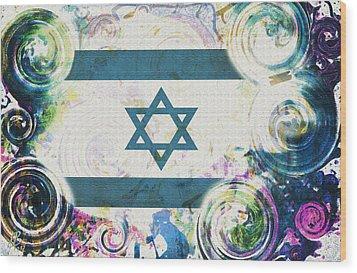 Colorful Land Of Israel Wood Print by Jenn Bodro