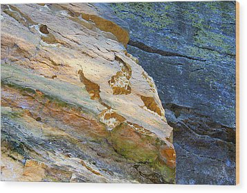 Wood Print featuring the photograph Colorful Rocks by Milena Ilieva