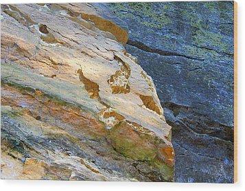 Colorful Rocks Wood Print by Milena Ilieva