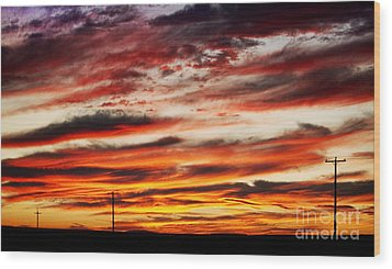 Colorful Rural Country Sunrise Wood Print by James BO  Insogna