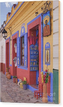 Colorful Storefront Wood Print by Jeremy Woodhouse