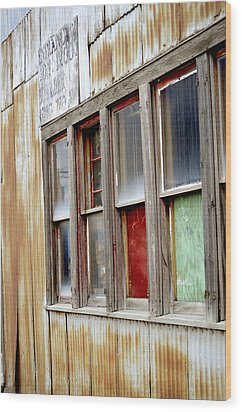 Colorful Windows Wood Print by Fran Riley