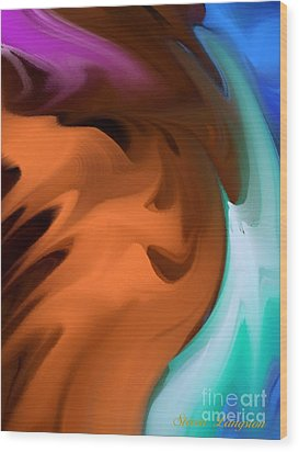 Wood Print featuring the painting Colors In Motion by Steven Lebron Langston
