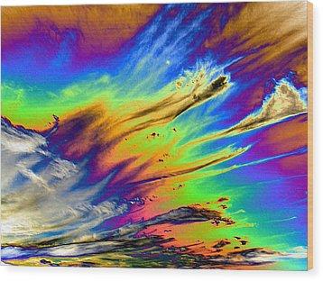 Colors Wood Print by Kathleen Nash