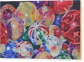 Colors Of Christmas ...sold  Wood Print