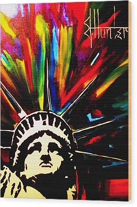 Colors Of Liberty Wood Print by Jeff Hunter