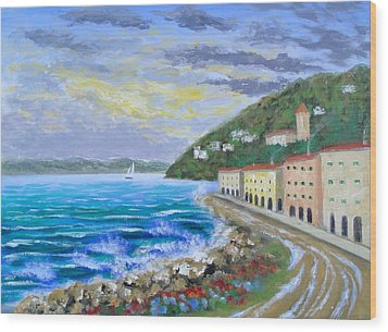 Colors Of The Riviera Wood Print by Larry Cirigliano