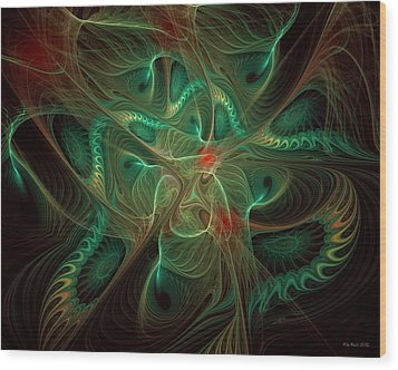 Wood Print featuring the digital art Colors Of The Wind by Kim Redd