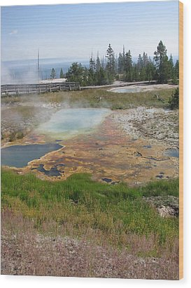 Wood Print featuring the photograph Colors Of Yellowstone by Shawn Hughes