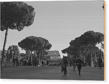 Colosseum Wood Print by Marcel Krasner