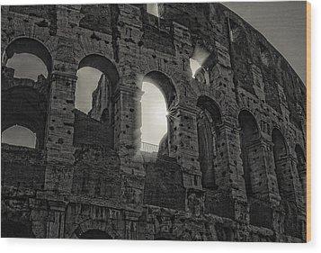 Colosseum Wood Print by Michael Avory