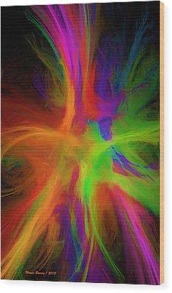 Colour Explosion Wood Print by Wayne Bonney