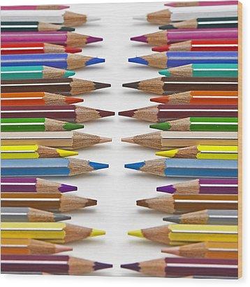 Coloured Pencil Wood Print by Joana Kruse