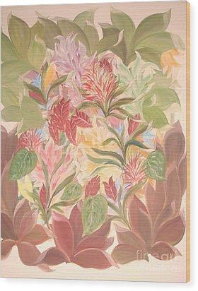 Colourful Leaves Wood Print by Rachel Carmichael