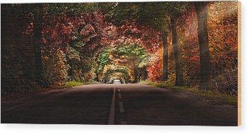 Colourful Way Wood Print by Marek Czaja