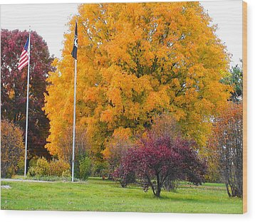 Colours Of Fall Wood Print