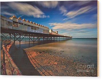 Colwyn Pier Wood Print by Adrian Evans