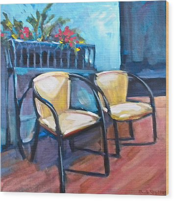 Come Relax Wood Print by Paula Strother